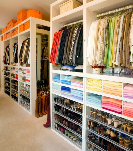 Organized and neat closet